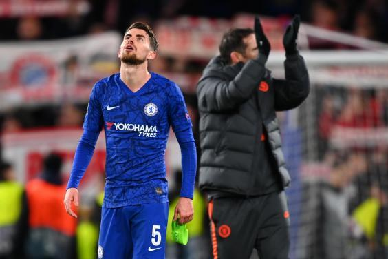 Jorginho will be suspended for the second leg at Bayern (Getty Images)