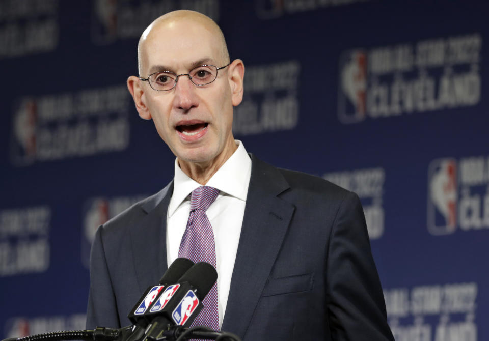 NBA commissioner Adam Silver announced the creation of the Basketball Africa League in 2019. (AP Photo/Tony Dejak, File)
