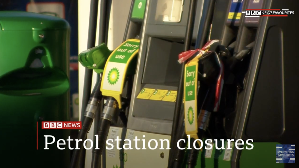 How the BBC reported the petrol issue on 23 September