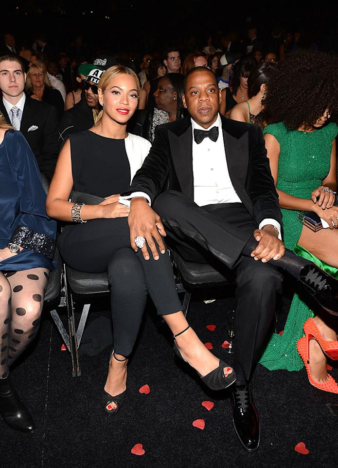 Beyonce and Jay-Z at the 55th Annual Grammy Awards at the Staples Center in Los Angeles, CA on February 10, 2013.
