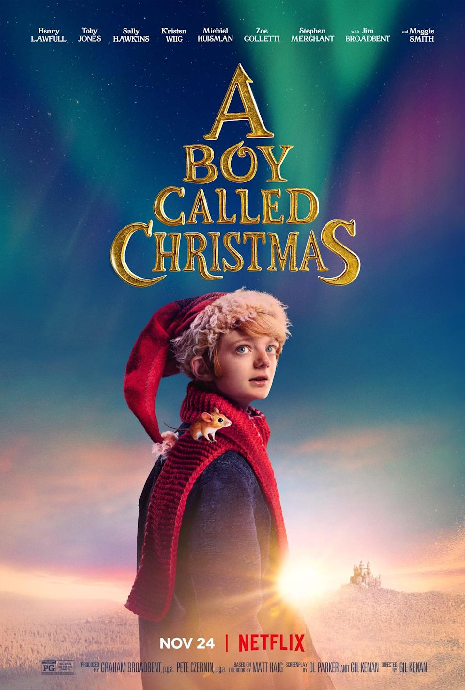 """<p>Based on the book of the same name by Matt Haig, this playful reimagining of the story of Father Christmas follows a boy named Nikolas who sets off North on a search to find his father. You can expect to see some faces you recognize, including Kristen Wiig and Maggie Smith. </p> <p><strong>When it's available: </strong><a href=""""http://www.netflix.com/title/81029733"""" class=""""link rapid-noclick-resp"""" rel=""""nofollow noopener"""" target=""""_blank"""" data-ylk=""""slk:Nov. 24"""">Nov. 24</a></p>"""