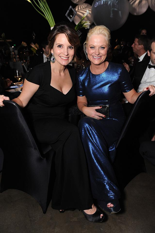 "Neither Tina Fey (""30 Rock"") nor Amy Poehler (""Parks and Recreation"") took home the Emmy for Outstanding Lead Actress in a Comedy Series, but that didn't stop the BFFs from having a grand ol' time at the annual Governor's Ball. Jordan Strauss/<a href=""http://www.wireimage.com"" target=""new"">WireImage.com</a> - September 18, 2011"
