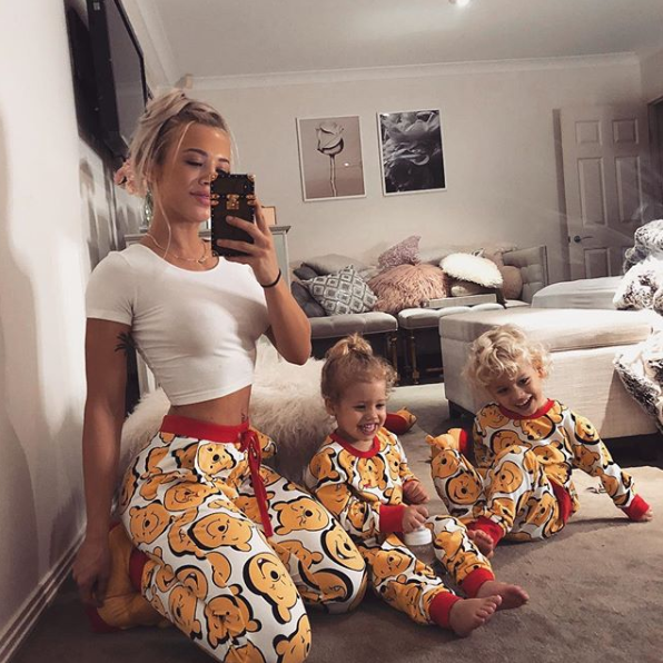 <p>Tammy loves to wear matching pj's with her kids – and these aren't the trio's only set! Source: Instagram/Tammy Hembrow </p>