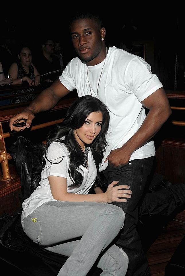 Is NFL star Reggie Bush Kim's one true love? They dated for about two years beginning in 2007, only to break up, reconcile for seven months, and then call it quits again. Now there are rumors the two might get back together again! Only time will tell if a reunion is in store ... (6/24/2009)