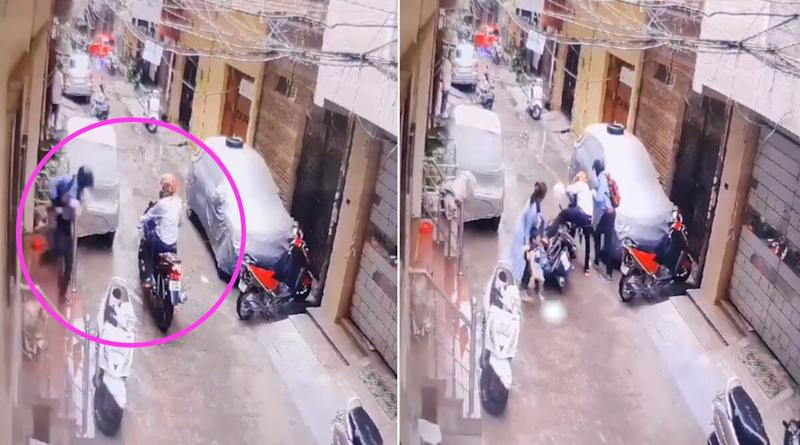 Delhi Mom Foils Kidnapping Bid, Saves Daughter From Clutches of Abductors (Watch Video)