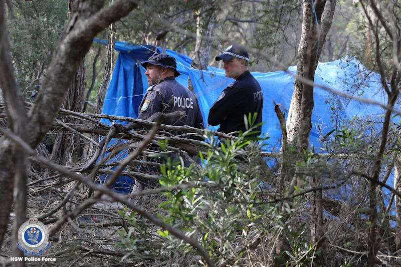 Police discovered the skeletal remains on Wednesday while searching the bushland for Thea Liddle. Source: NSW Police