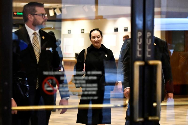 Huawei CFO Meng leaves B.C. Supreme Court on a break during her extradition hearing in Vancouver
