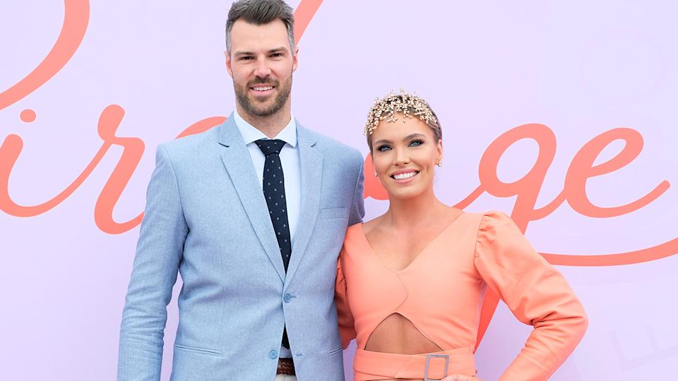 Keegan Brooksby and Abbey Holmes, pictured here at Oaks Day in 2019.