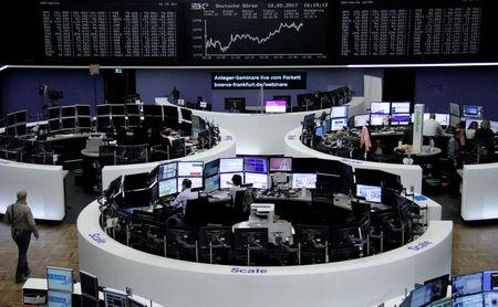 European shares lifted by oil bounce, dealmaking; cybersecurity stocks gain