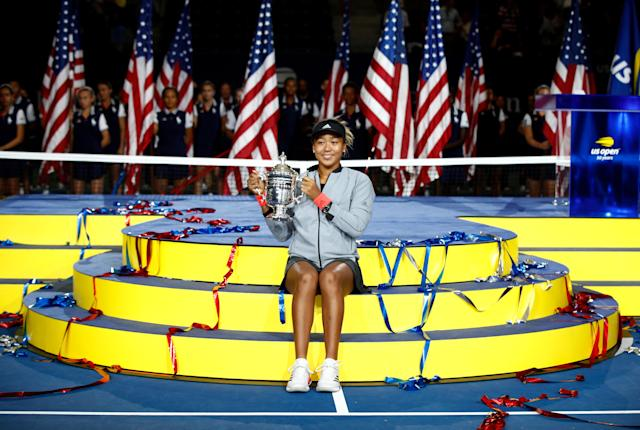 "20-year-old Naomi Osaka knocked off <a class=""link rapid-noclick-resp"" href=""/olympics/rio-2016/a/1132744/"" data-ylk=""slk:Serena Williams"">Serena Williams</a> in straight sets on Saturday afternoon to win the U.S. Open, her first Grand Slam title. (Getty Images)"
