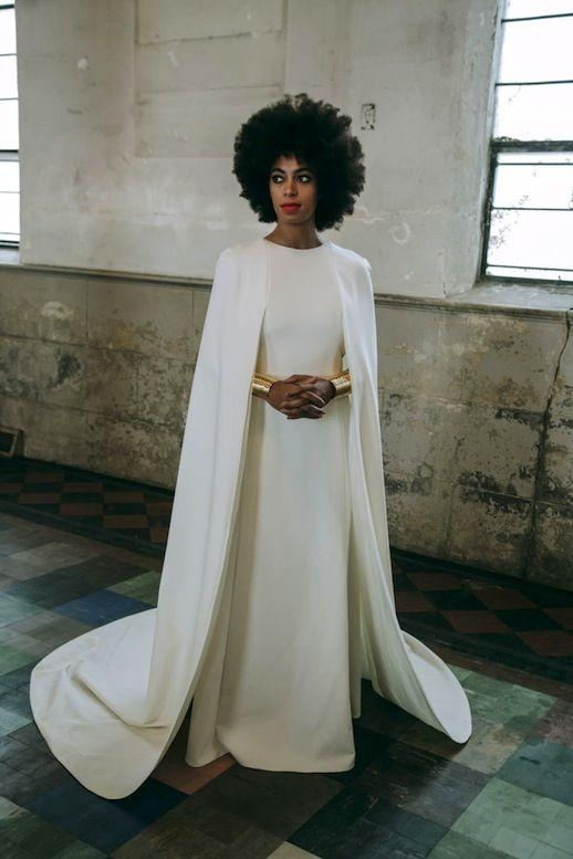 <p>For the ceremony, the singer changed into a gown designed by Humberto Leon for Kenzo. She accessorised the look with gold cuffs by Jill for Lady Grey while her new husband donned a Lanvin suit for the nuptials. We challenge you to find a more Insta-ready couple… <em>[Photo: Instagram]</em> </p>