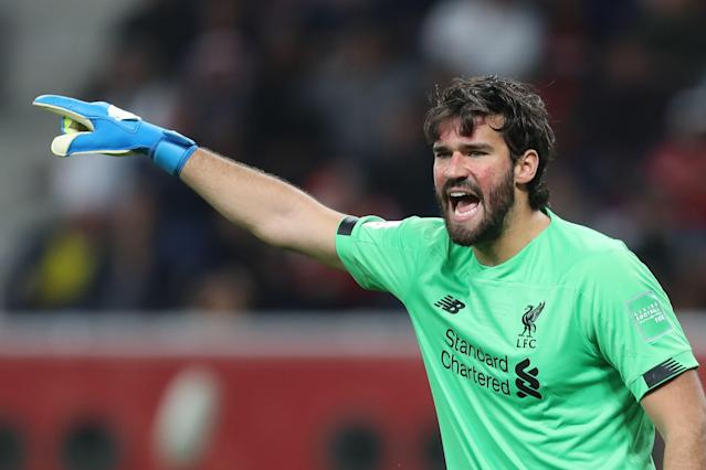 Liverpool goalkeeper Alisson Becker (Credit: Getty Images)