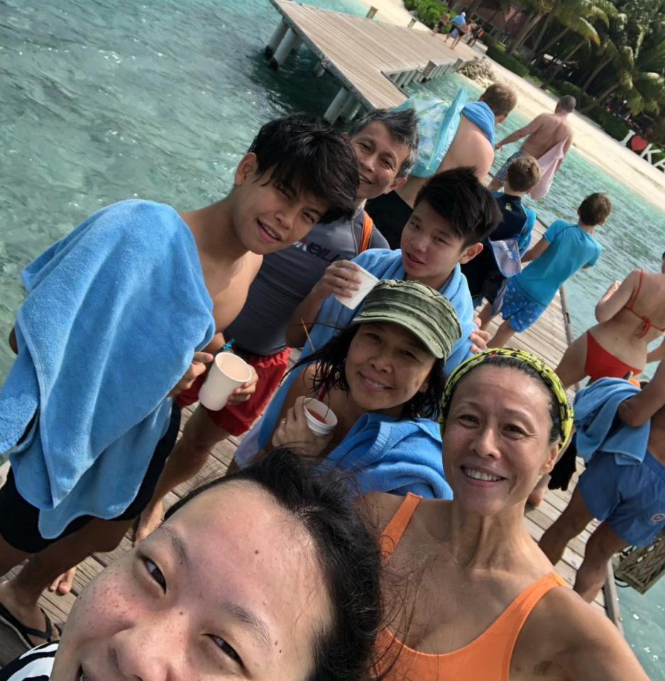 <p>Television actress and theatre practitioner Tan Kheng Hua is taking a well-deserved break in the Maldives. (Photo: Tan Kheng Hua/ Instagram) </p>