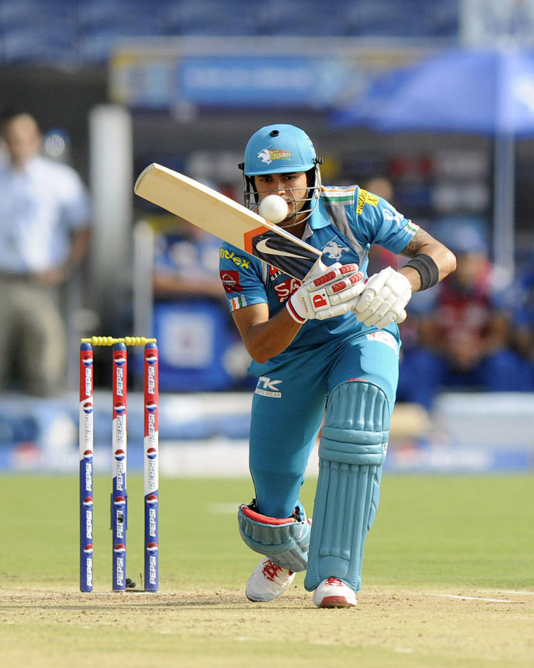 Manish Pandey of Pune Warriors bats during match 58 of the Pepsi Indian Premier League ( IPL) 2013  between The Pune Warriors India and the Kolkata Knight Riders held at the Subrata Roy Sahara Stadium, Pune on the 11th May 2013. (BCCI)