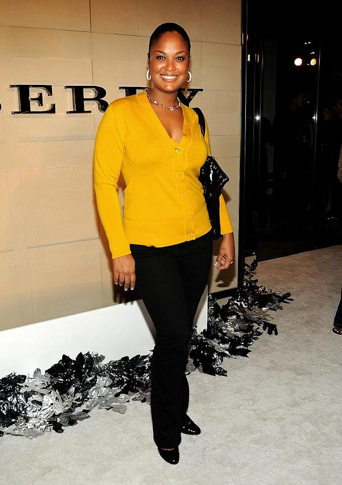"Former professional boxer Laila Ali brightens up the room with her smile and mustard-colored top. Jordan Strauss/<a href=""http://www.wireimage.com"" target=""new"">WireImage.com</a> - October 20, 2008"