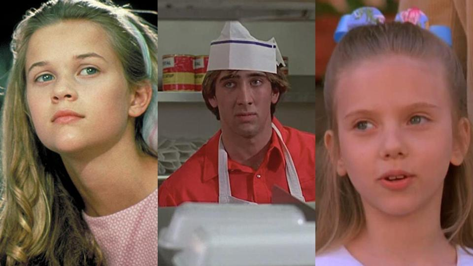 Reese Witherspoon in The Man in the Moon, Nicolas Cage in Fast Times at Ridgemont High and Scarlett Johansson in North