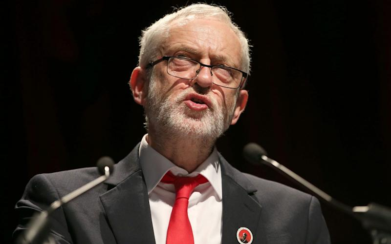 Jeremy Corbyn, addressing the Scottish TUC conference today, could lead Labour into the electoral wilderness - PA