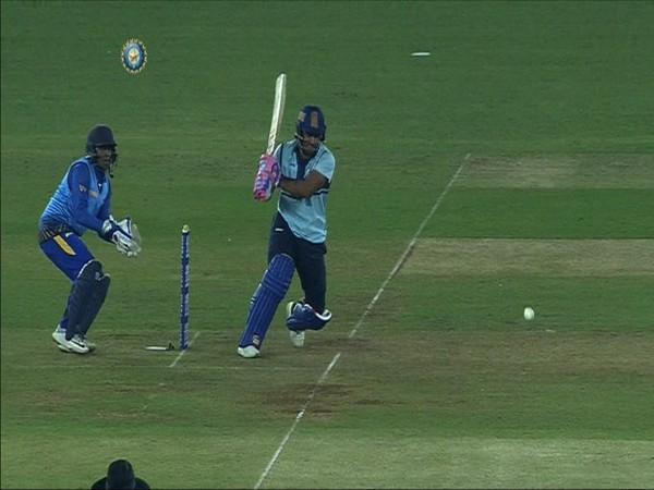 Rajasthan's Mahipal Lomror in action against Bihar (Photo/ BCCI Domestic Twitter)
