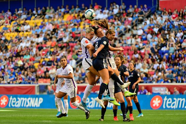 Improvements to clubs like Sky Blue FC, like the deal to play home games at Red Bull Arena, have helped change the NWSL landscape heading into this season. (Photo by Howard Smith/ISI Photos/Getty Images)