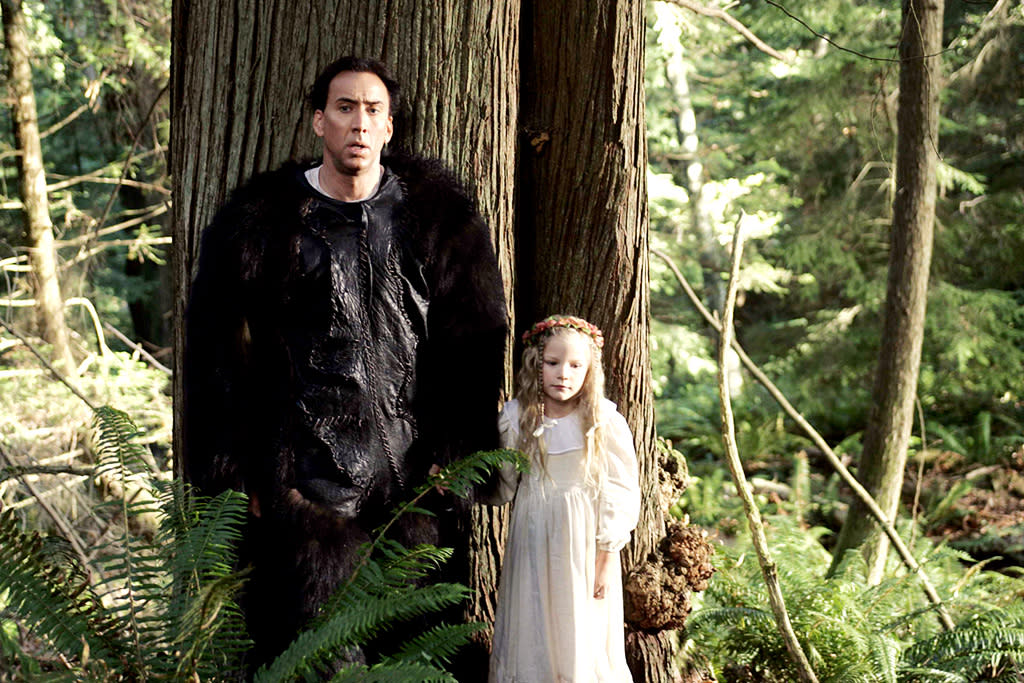 """<a href=""""http://movies.yahoo.com/movie/1809429392/info"""">THE WICKER MAN</a> (2006)   The 1973 original, which was hailed as a classic of British horror, has an ending that still shocks. The 2006 remake is also riveting but for all the wrong reasons, combining Neil LaBute's trademark misogyny taken reductio ad absurdum with some of the most preposterously hammy acting of Nicolas Cage's career. And that's saying something. The film's high (or low) point comes when Cage, dressed in a bear suit, cold-cocks a young maiden. Yes, you read that right."""