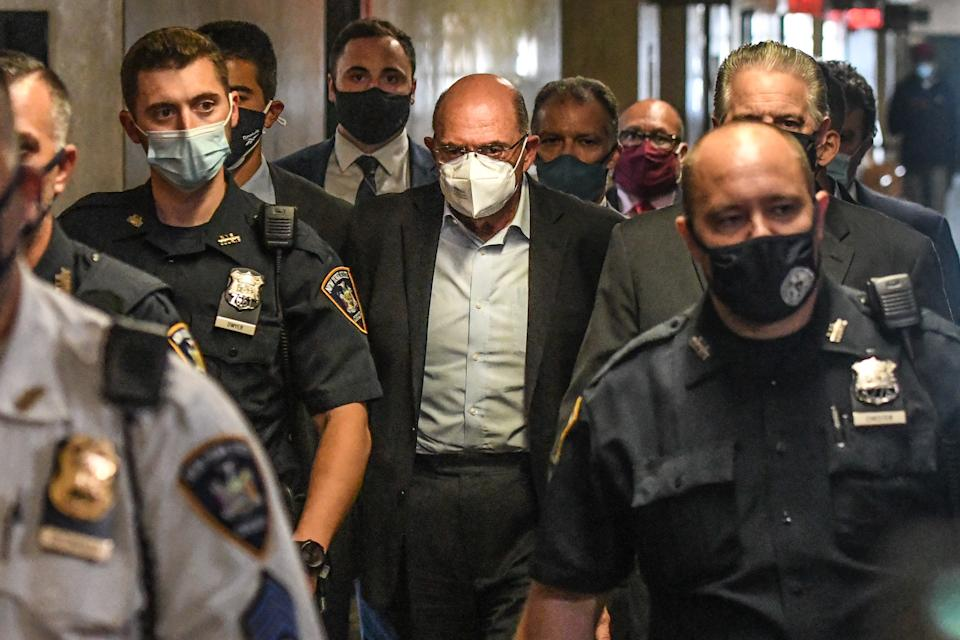 Allen Weisselberg walks towards a courtroom at criminal court in New York, U.S., on Thursday, July 1, 2021. (Stephanie Keith/Bloomberg via Getty Images)