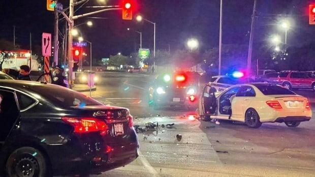 Ottawa police are not commenting but are investigating a collision at the scene near Ogilvie and Cyrville roads in the city's east end. (SB/Radio-Canada - image credit)