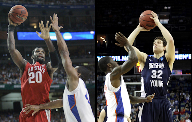 Greg Oden vs. Jimmer Fredette will be quite nostalgic for some college basketball fans. (AP Photos)
