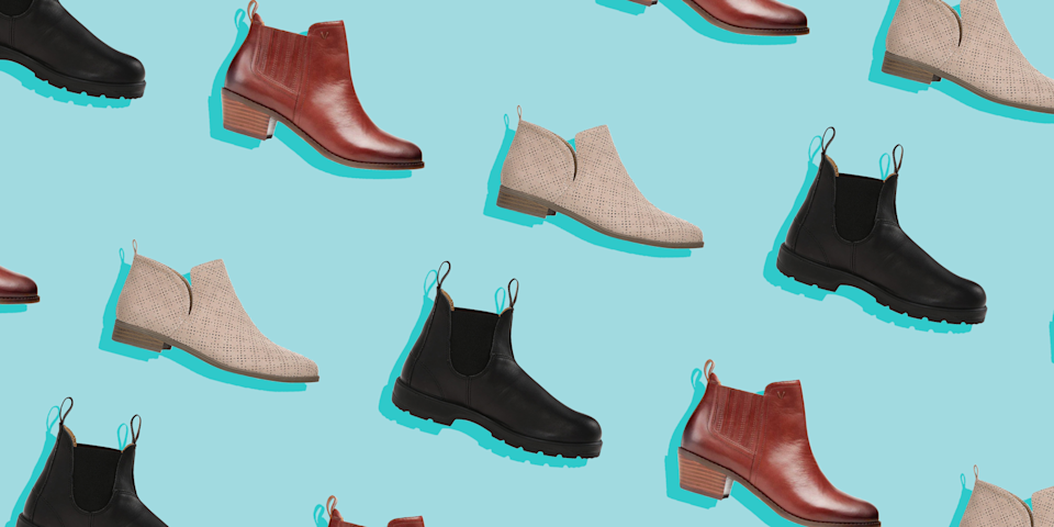 """<p>Is there any wardrobe staple quite so versatile (and hard to find) as a quality pair of booties? We practically live in the things from September to May—but finding the most comfortable ankle boots can feel nearly impossible, especially with <a href=""""https://www.prevention.com/beauty/style/g25126769/best-boots-for-plantar-fasciitis/"""" rel=""""nofollow noopener"""" target=""""_blank"""" data-ylk=""""slk:so many options"""" class=""""link rapid-noclick-resp"""">so many options</a>.</p><p>As we inch our way into <a href=""""https://www.prevention.com/beauty/style/g29268866/best-cozy-sweaters/"""" rel=""""nofollow noopener"""" target=""""_blank"""" data-ylk=""""slk:sweater weather"""" class=""""link rapid-noclick-resp"""">sweater weather</a>, ankle boots are practically a must-have for every outfit, whether you're returning to the office, heading out for a much-needed <a href=""""https://www.prevention.com/sex/g36845440/romantic-fall-date-ideas/"""" rel=""""nofollow noopener"""" target=""""_blank"""" data-ylk=""""slk:date night"""" class=""""link rapid-noclick-resp"""">date night</a>, or going on a <a href=""""https://www.prevention.com/life/g33469955/fall-foliage/"""" rel=""""nofollow noopener"""" target=""""_blank"""" data-ylk=""""slk:leaf-peeping adventure"""" class=""""link rapid-noclick-resp"""">leaf-peeping adventure</a>. Here's how to pick the perfect pair.</p><h2 class=""""body-h2"""">How to shop for comfortable ankle boots</h2><p><strong>✔️ Look for a low heel.</strong> """"The higher the heel, the more stress is placed on the knees, hips, back, and forefoot,"""" says <a href=""""https://tcomn.com/physicians/paul-langer/home/"""" rel=""""nofollow noopener"""" target=""""_blank"""" data-ylk=""""slk:Paul Langer, D.P.M."""" class=""""link rapid-noclick-resp"""">Paul Langer, D.P.M.</a>, a sports medicine podiatrist based in Minneapolis. If you're planning on comfort and walkability, your heel should be no more than two inches tall, explains <a href=""""https://www.footandankle-usa.com/provider/dr-saylee-tulpule/"""" rel=""""nofollow noopener"""" target=""""_blank"""" data-ylk=""""slk:Saylee Tulpule, D.P.M."""" class=""""link rapid-noclick-res"""