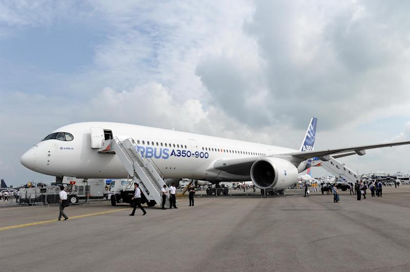 A $14-billion deal will see Airbus deliver 25 A350-900 and 25 A330-900neo aircraft to Delta Air Lines (AFP Photo/Roslan Rahman)