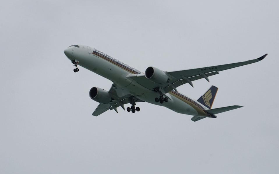 A senior figure at NATS said planes have been able to travel as the crow flies due to the lack of flights - Roslan Rahman/AFP