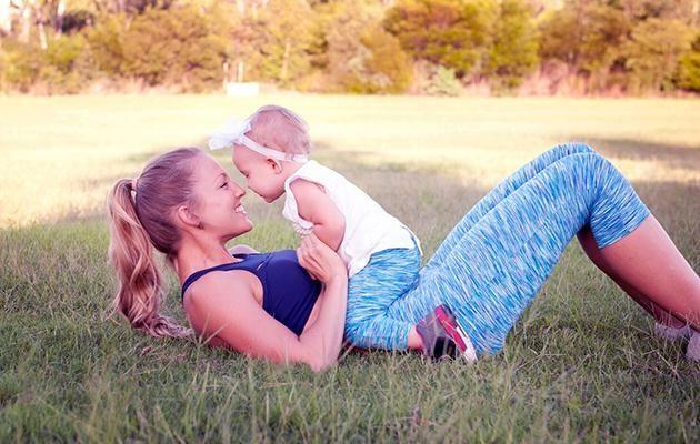 Tamara Murphy made working out with her bub part of the daily routine. Image: Caters