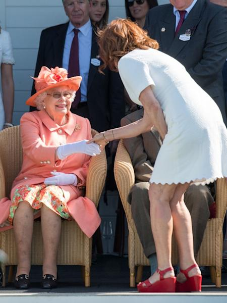 Looks like Susan Sarandon wasn't about to pass up an opportunity to meet Queen Elizabeth II!