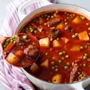 """<p>Nothing can warm you up quite like a bowl of beef stew. This one is packed with hearty vegetables too like potatoes and carrots. Other vegetables can be added or subbed in here as pleased just be sure to add them with other like vegetables so that they cook correctly.</p><p>Get the <a href=""""https://www.delish.com/uk/cooking/recipes/a35306333/vegetable-beef-stew-recipe/"""" rel=""""nofollow noopener"""" target=""""_blank"""" data-ylk=""""slk:Vegetable Beef Stew"""" class=""""link rapid-noclick-resp"""">Vegetable Beef Stew</a> recipe.</p>"""