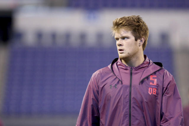 """For better or worse, Sam Darnold has """"Cleveland Brown"""" written on him. (AP)"""