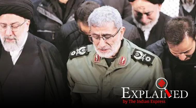 Esmail Qaani, Who is Esmail Qaani, Qassem Soleimani killing, Soleimani successor, Iran military General Esmail Qaani, Iran military, US Iran tensions, US Iran attack, Express Explained, Indian Express
