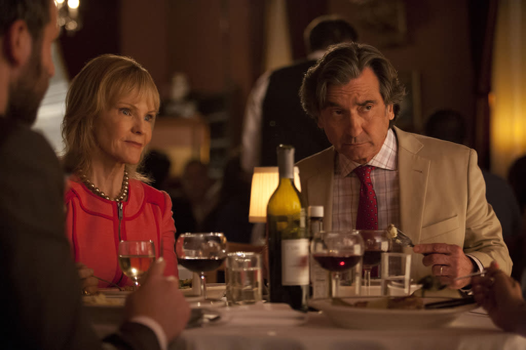 "Deborah Rush and Griffin Dunne in the ""Girls"" Season 2 episode, ""It's a Shame About Ray."""