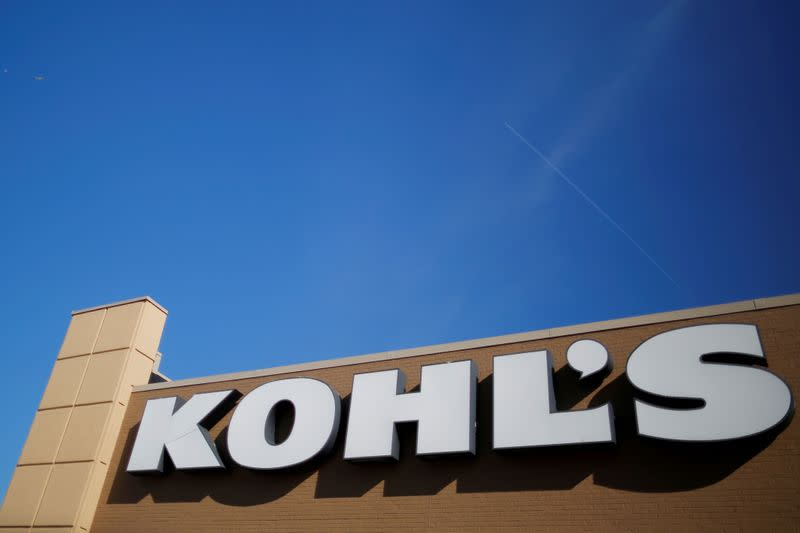FILE PHOTO: A sign marks a Kohl's store in Medford