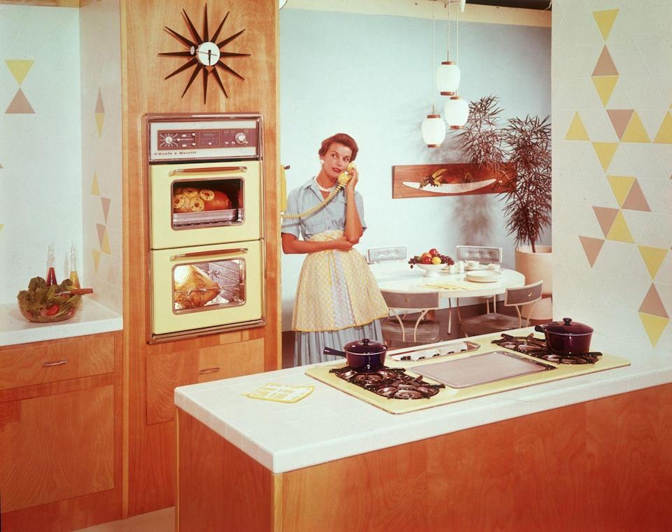 <p>We've cooked with wood, coal and gas, but by now, an electric range, however small, was the hallmark of the high-tech kitchen of the period.</p>