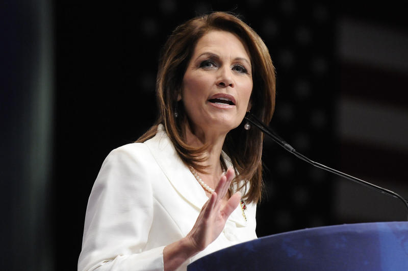 Michele Bachmann turned to God to tell her whether to make a bid for Al Franken's former seat. (Jonathan Ernst / Reuters)