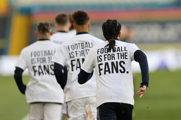 Leeds United players made their feelings clear about the proposed breakaway European Super League