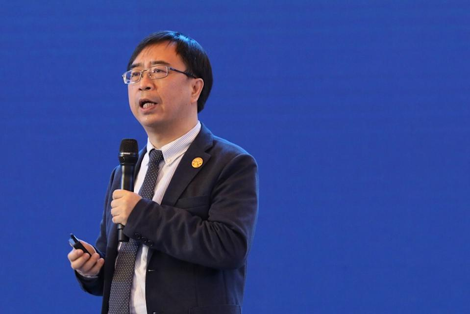 Chinese quantum physicist Pan Jianwei speaks at the opening ceremony of the China International Big Data Industry Expo 2018 at Guiyang, capital of southwest Guizhou province, in May 2018. Photo: Xinhua