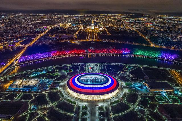 Estádio Luzhniki durante a Copa do Mundo (DMITRY SEREBRYAKOV/AFP/Getty Images)