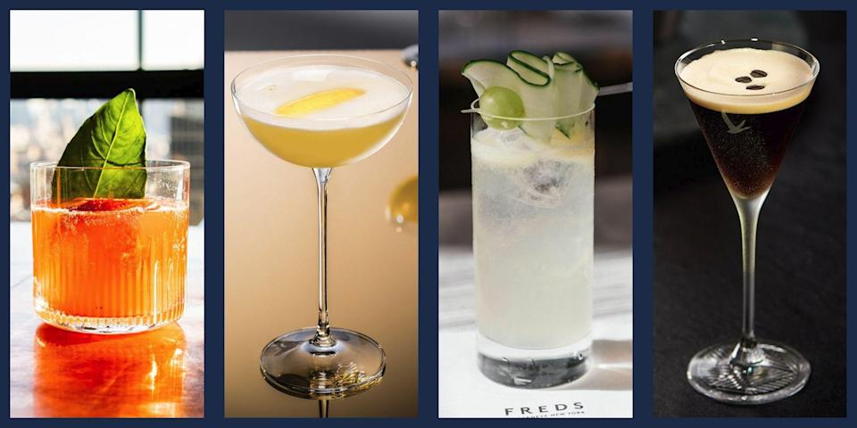 """<p>When it comes to a simple, refreshing, easy cocktail, a vodka tonic is hard to beat. But vodka is famous for its mild, mixing-friendly flavor, so if your <a href=""""https://www.townandcountrymag.com/leisure/drinks/g26627127/best-vodka-brands/"""" rel=""""nofollow noopener"""" target=""""_blank"""" data-ylk=""""slk:drink of choice is vodka"""" class=""""link rapid-noclick-resp"""">drink of choice is vodka</a>, it would be a shame not to branch out and embrace the myriad of options that the spirit has to offer. With that in mind, we've rounded up some of the best vodka cocktail recipes from mules to creative mixed drinks to the legendary martini. With unique flavors and easy to follow recipes it's never been easier to get yourself out of a cocktail rut, so try out these fun cocktails that any vodka drinker is sure to love. </p>"""