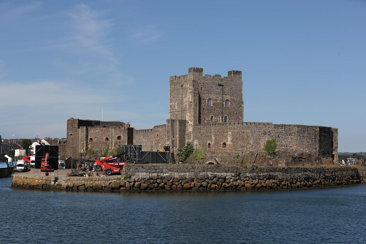 Carrickfergus Castle, where filming is taking place for Dungeons and Dragons (Liam McBurney/PA)