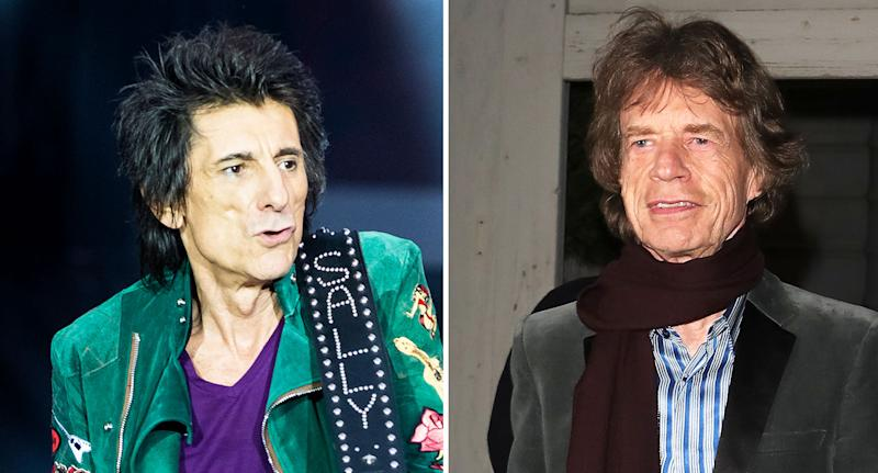 Not all men can expect to become fathers as late in life as Ronnie Woods (left) and Mick Jagger of the Rolling Stones. [Photo: Getty]