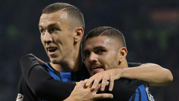 <p>Perisic joins Icardi on Inter sidelines against Genoa</p>