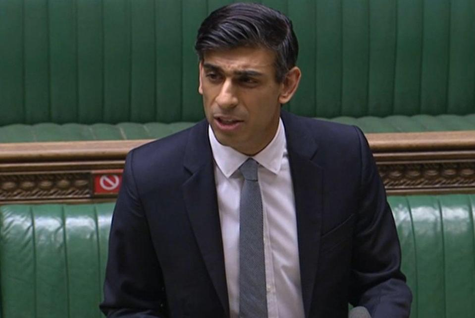 <p>Chancellor Rishi Sunak delivering his Budget to the House of Commons</p> (PA)