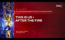 """In this video grab issued Saturday, Sept. 19, 2020 by The Television Academy, Ron Cephas Jones is announced as the winner of the award for outstanding guest actor in a drama series for """"This is Us"""" during the 2020 Creative Arts Emmy Awards. (The Television Academy via AP)"""