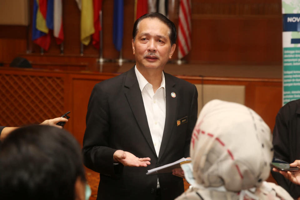 Health director-general Datuk Dr Noor Hisham Abdullah said Malaysia recorded zero locally transmitted Covid-19 cases for the second time today. — Picture by Choo Choy May