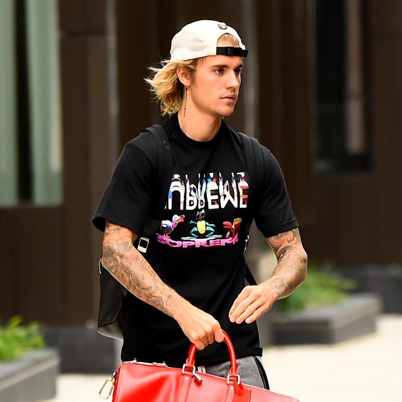 766aee1be Justin Bieber Test Drives the Matrimonial Man Bun in Los Angeles